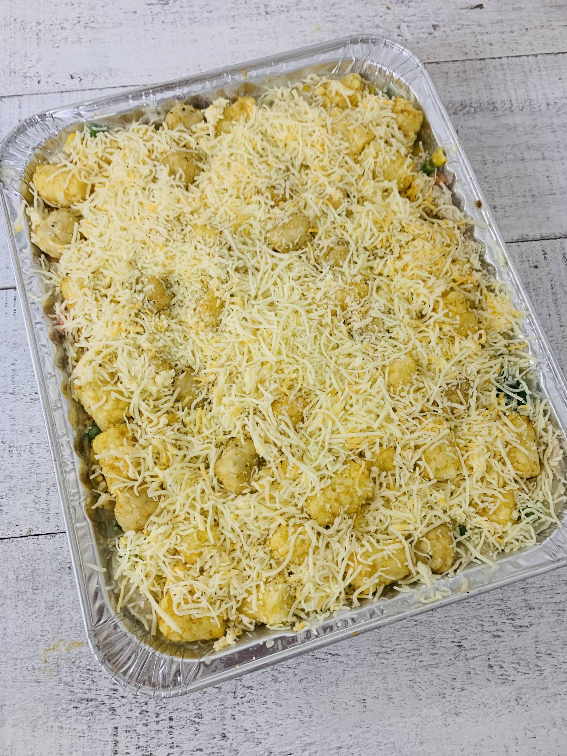 Tater Tot Casserole Chicken Family Meal (Feeds 6-8)